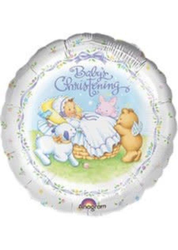"****Baby's Christening 18"" Mylar Balloon"
