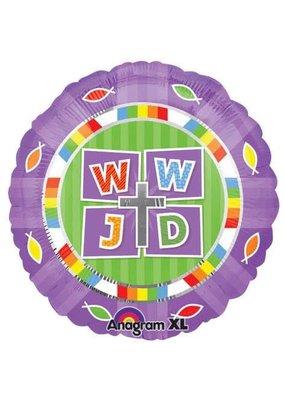 """***WWJD  What Would Jesus Do 18"""" Mylar Balloon"""