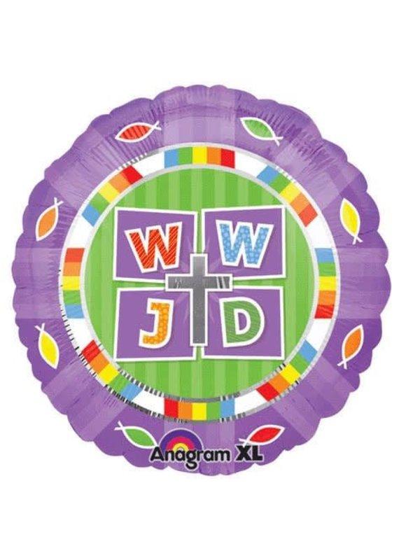 """****WWJD  What Would Jesus Do 18"""" Mylar Balloon"""