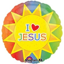 "***I Love Jesus 18"" Mylar Balloon"