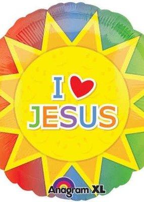 "***I Love Jesus 18"" Mylar Balloon"