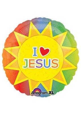 "****I Love Jesus 18"" Mylar Balloon"