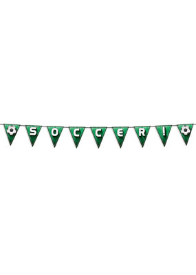 "***Soccer!/Football Pennant Streamer 7½"" x 8'"