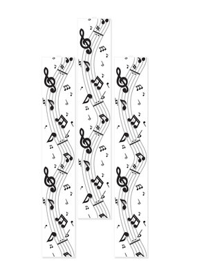 ***Musical Notes 6Ft Party Panels
