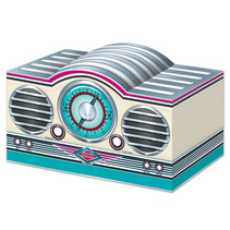 "***3-D Rock & Roll Radio Centerpiece 5¾"" x 9½"""