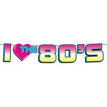 "***I Love The 80's Streamer 7"" x 6'"