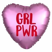 ***Girl Power Heart Shaped Mylar Balloon