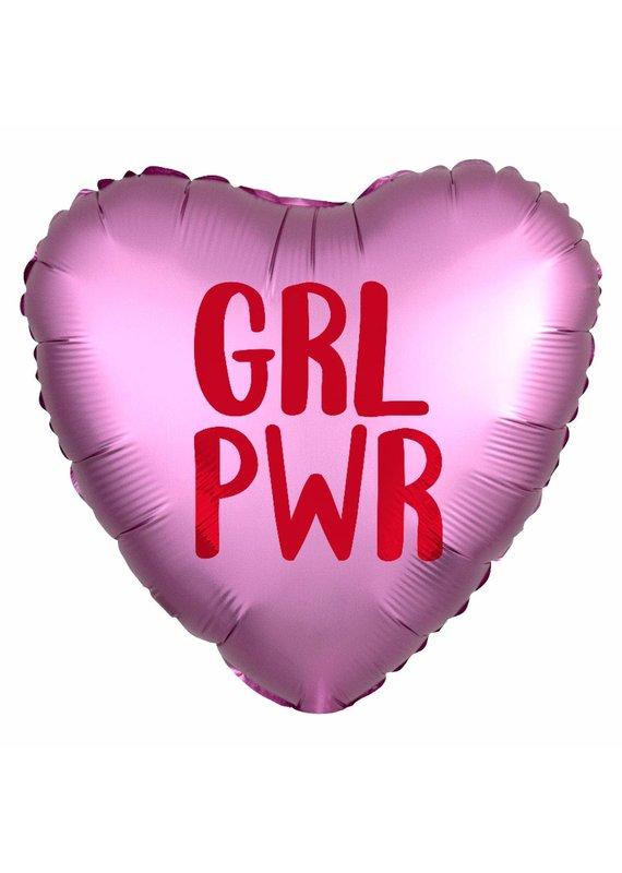 ****Girl Power Heart Shaped Mylar Balloon