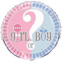 "***Gender Reveal 18"" Mylar Balloon"