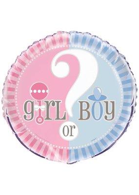 "***Gender Reveal 18"" Mylar Balloon"