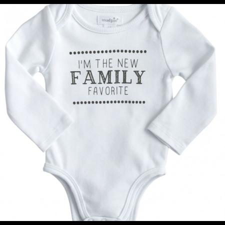 ***I'm The New Family Favorite White Onesie