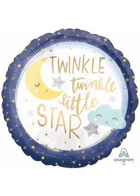 """***Twinkle Twinkle Little Star 18"""" Mylar Balloon"""