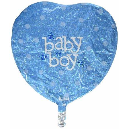"""***Baby Boy Blue Heart Shape 18"""" Mylar Balloon"""