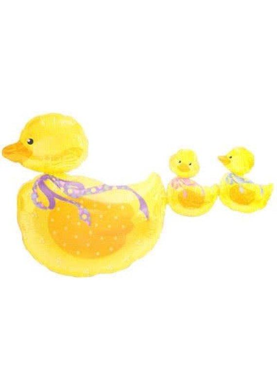 M&D industries ***Trail of Ducks Connected Jumbo Mylar Balloon