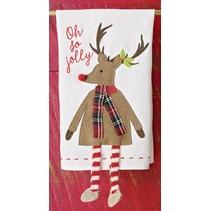 ***Reindeer Dangle Leg Towel