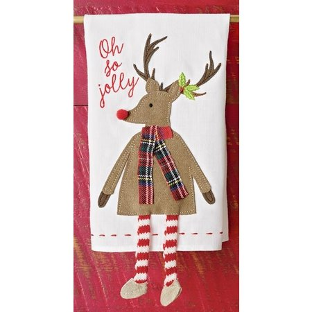***Reindeer Dangle Leg Towel