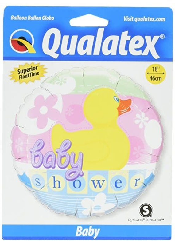 "***Rubber Duck Baby Shower 18"" Mylar Balloon"