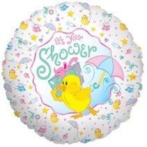 "***It's Your Duckie Baby Shower 18"" Mylar Balloon"