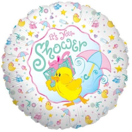 "***It's Your Duckie Baby Shower 18"" Mylar Balloon"