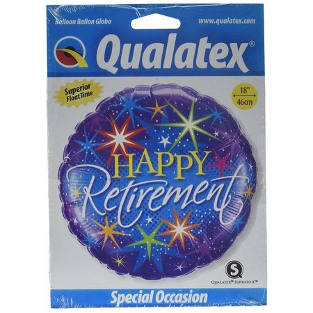 "***Retirement Color Bursts 18"" Mylar Balloon"