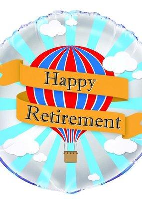 "***Happy Retirement Hot Air 18"" Mylar Balloon"