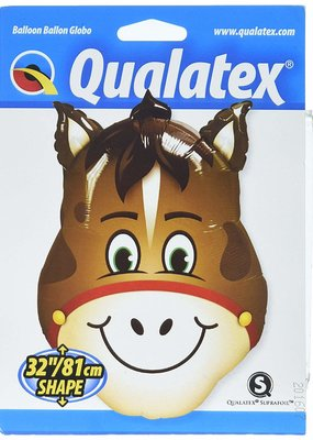 "***Horse Head 32"" Mylar Balloon"