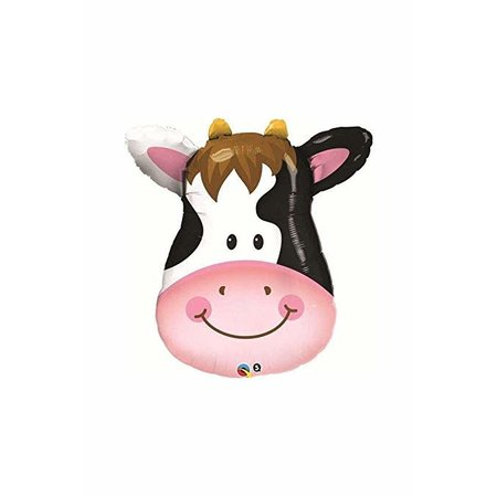 "***Cow Head 32"" Mylar Balloon"