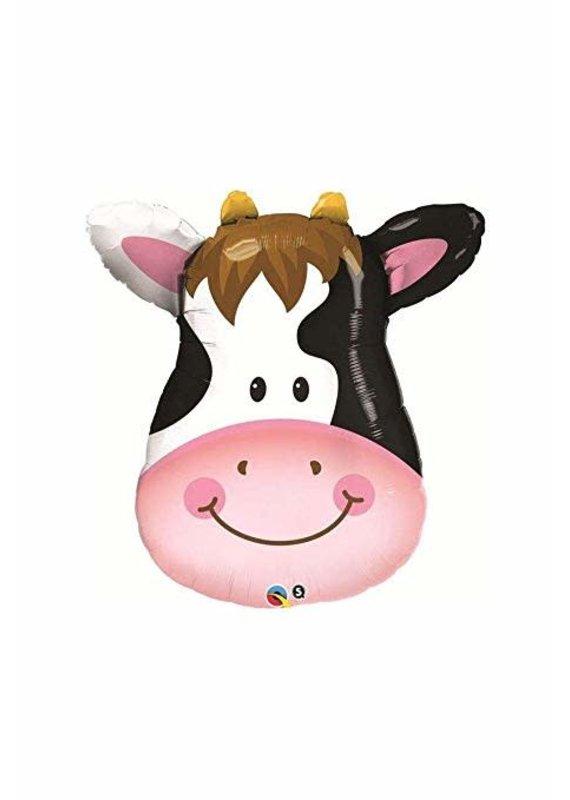 "****Cow Head 32"" Mylar Balloon"