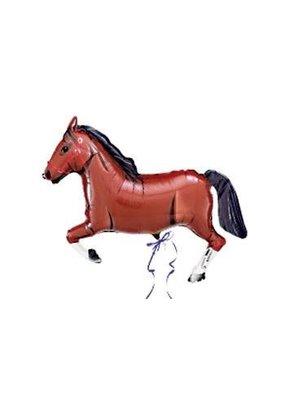 """***Brown Horse 43"""" Super Shape Mylar Balloon"""