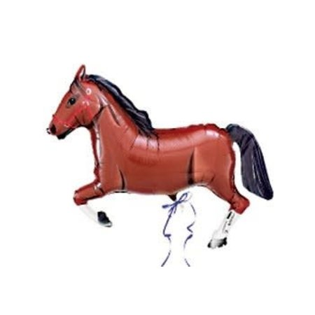 "***Brown Horse 43"" Super Shape Mylar Balloon"