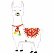"""***Festive Llama 45"""" Super Shape Mylar Balloon"""