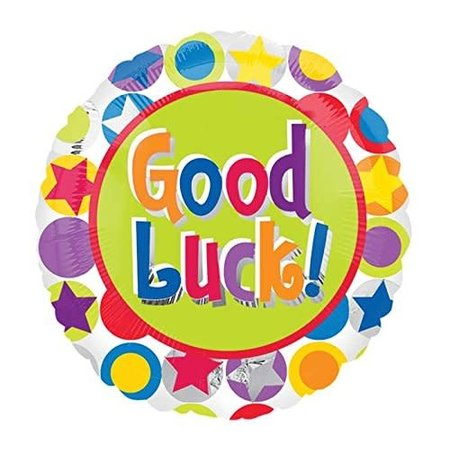 "***Good Luck 18"" Mylar Balloon"
