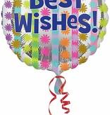 """***Bright Best Wishes 18"""" Mylar Balloon"""