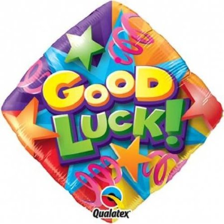 "***Good Luck Colorful 18"" Mylar Balloon"