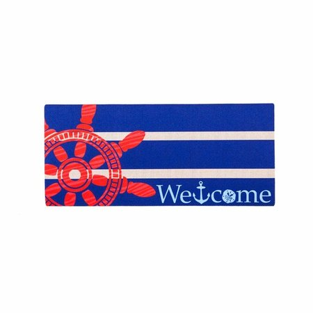 ***Sassafrass Nautical Welcome Swtich Mat