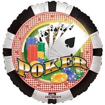 "***Poker 18"" Mylar Balloon"