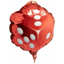 "***Red Dice 18"" Mylar Balloon"