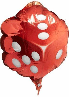 "***Red Dice 18"" Mylar Balloon"