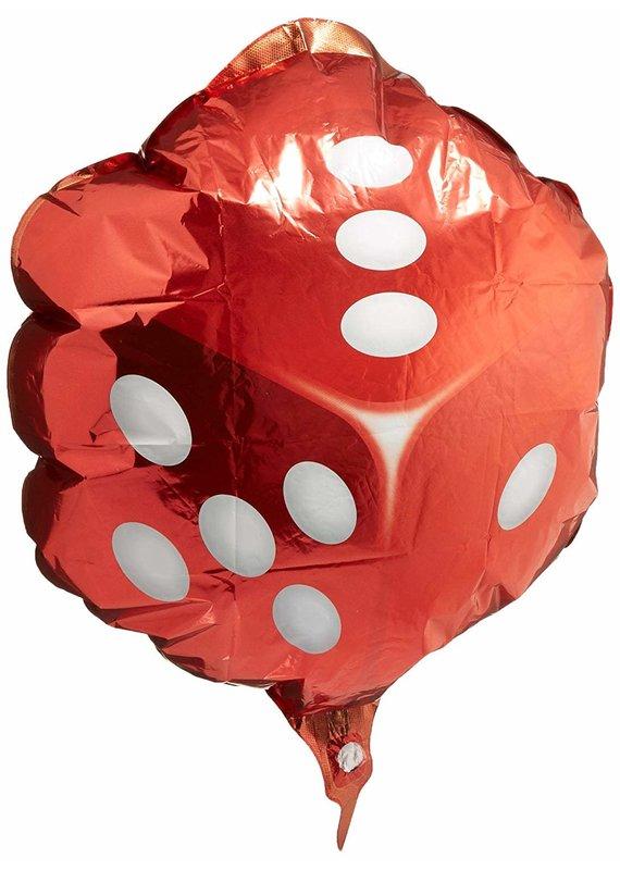 "****Red Dice 18"" Mylar Balloon"