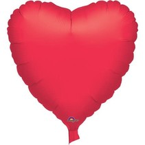 "***Casino Red Heart 32"" Mylar Balloon"