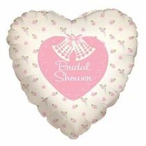 """***Bridal Shower Heart Shape 18"""" Mylar Balloon"""
