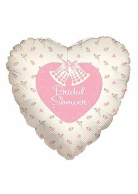 "***Bridal Shower Heart Shape 18"" Mylar Balloon"