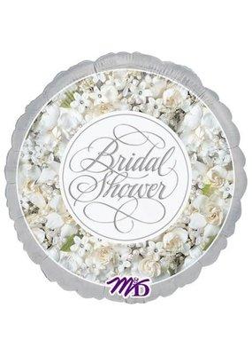 "***All in White Bridal Shower 18"" Mylar Balloon"