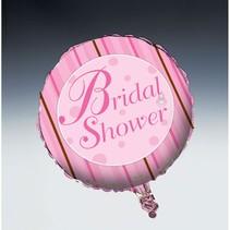 "***Bridal Shower Stripe 18"" Mylar Balloon"