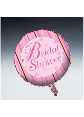 "***Bridal Shower Stripe 18"" Mylar Balloon"