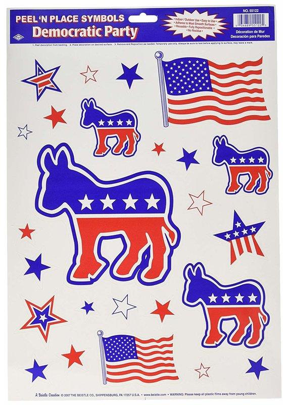 ****Peel N Place Democratic Party Symbols