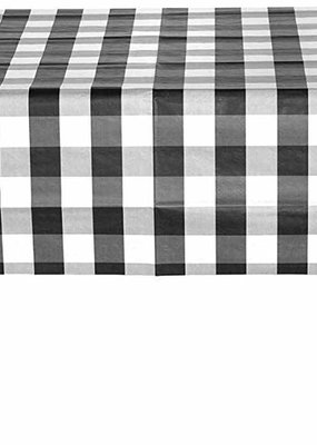 ***Black and White Classic Plaid Tablecover