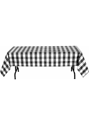 ****Black and White Classic Plaid Tablecover