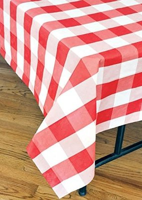 ***Red Classic Plaid Tablecover