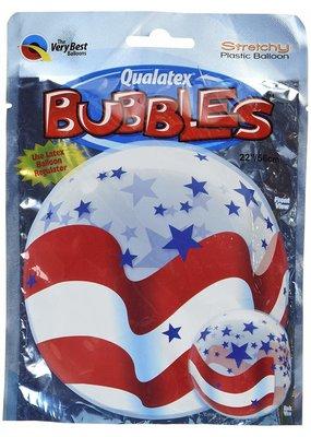 ***Patriotic USA Flag Bubble Balloon